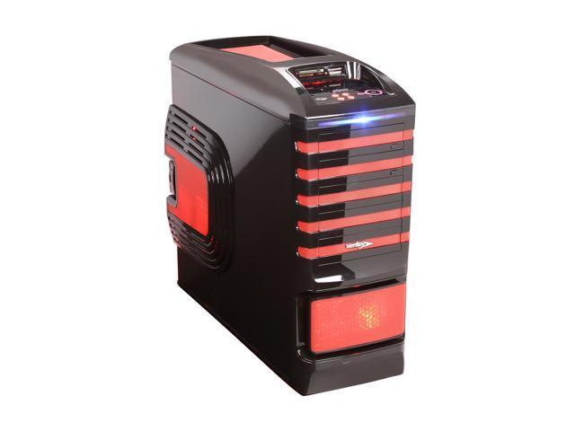 Sentey Burton Series GS-6500R Black / Red 1mm SECC / Plastic ATX Full Tower Computer Case