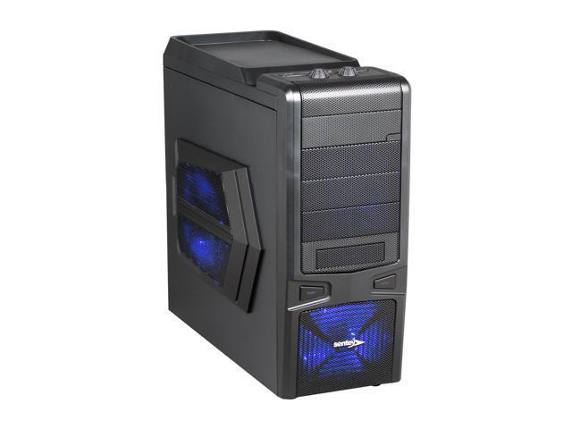 Sentey Extreme Division GS-6060 Plus Sandy Matte Black SECC / Plastic ATX Mid Tower Computer Case
