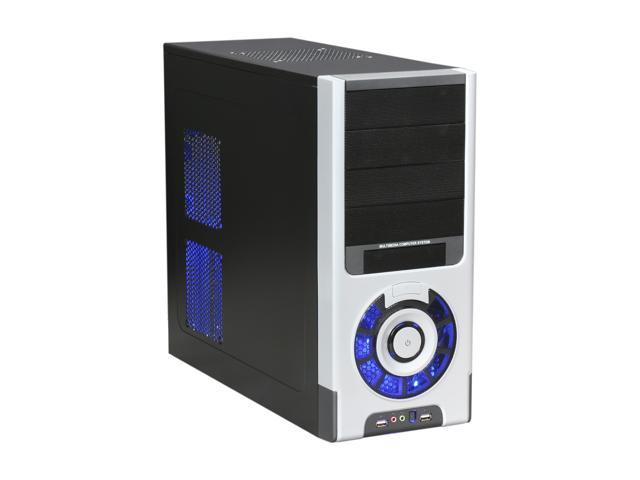 Pixxo CG-8062 Black Steel ATX Mid Tower Computer Case 500W Power Supply