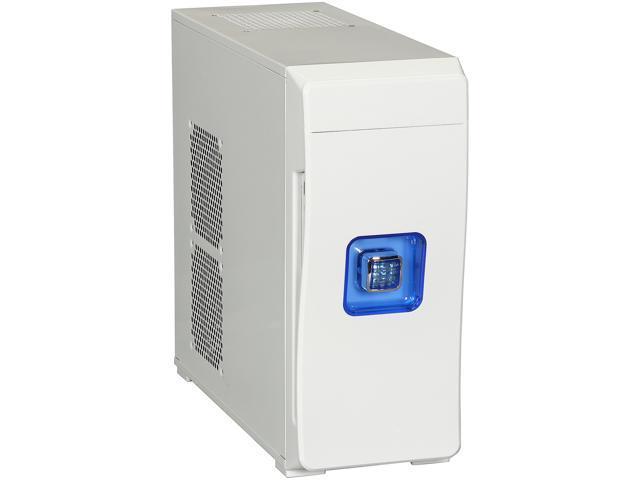 DIYPC MiniQ7-W White Computer Case w/ Dual White Fans