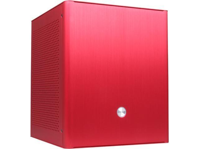 DIYPC V3plus-R Red Aluminum Mini-ITX Tower Computer Case