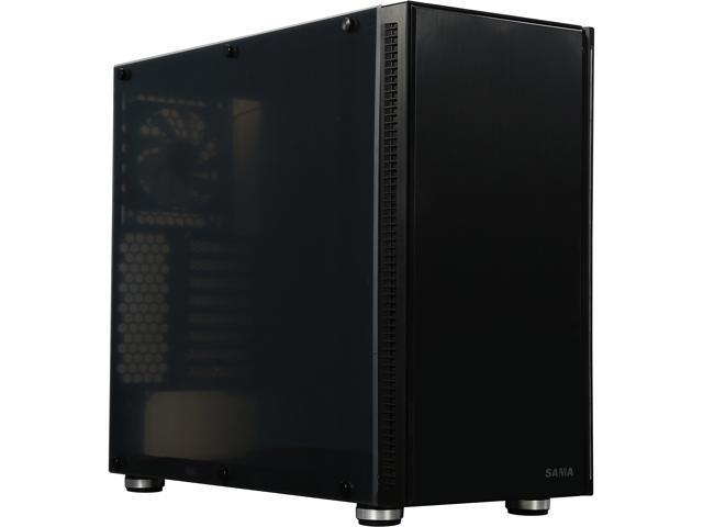 SAMA BlackFish-F Matte Black SPCC ATX Full Tower Computer Case ATX PS2 / EPS 12V Power Supply