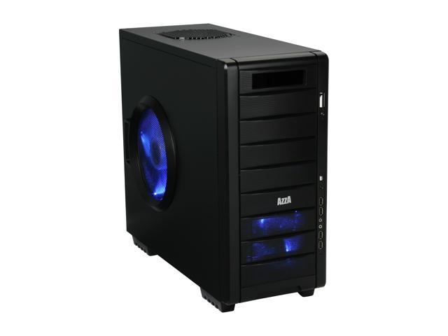 AZZA Helios 910 Black Japanese SECC Steel ATX Mid Tower Computer Case