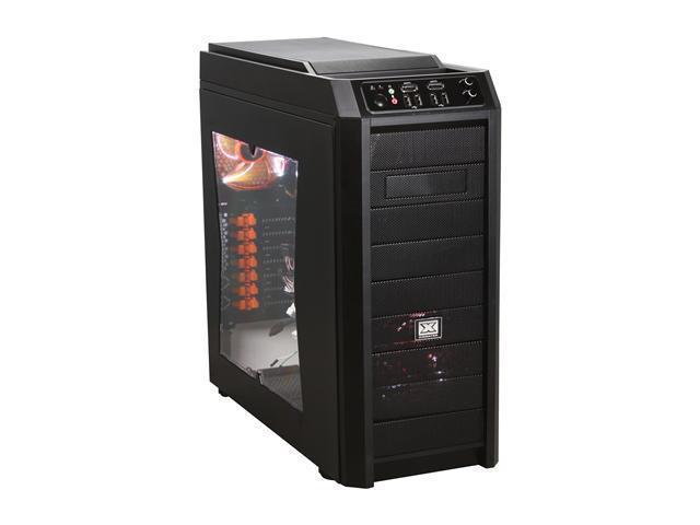 Xigmatek Utgard Window CPC-T90DB-U02 Black Steel / Aluminum and Mesh Bezel ATX Mid Tower Computer Case
