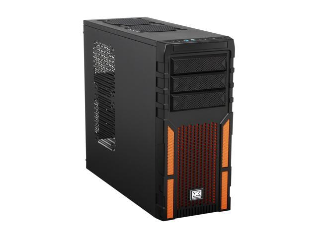 Xigmatek ASGARD 381 CCC-AD38BV-U03 Black/Orange Steel / Plastic / Metal Mesh ATX Mid Tower Computer Case