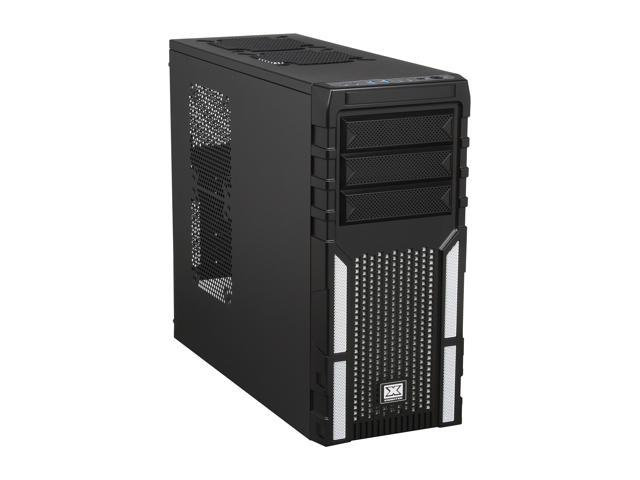 Xigmatek ASGARD 381 CCC-AD38BX-U03 Black/White Steel / Plastic / Metal Mesh ATX Mid Tower Computer Case