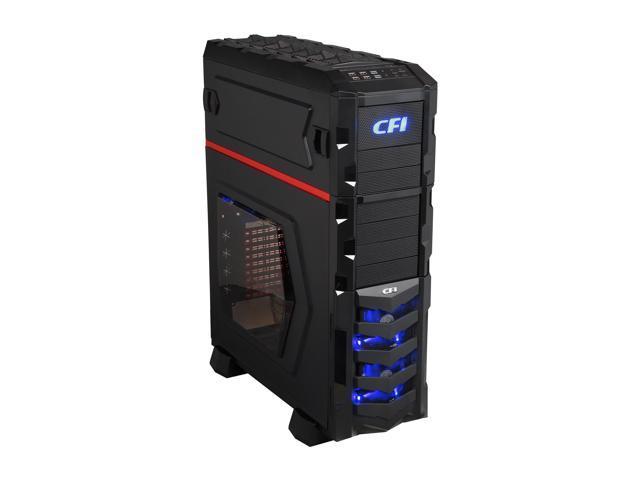 CFI Pharaoh Evo CFI-A1128 Black SECC / Mesh & Plastic Front Bezel ATX dual system full tower Computer Case