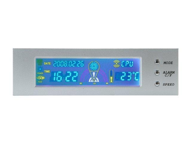 "LOGISYS Computer FP708SL 5.25"" Full Color Thermal/ Clock Control Panel (Silver)"
