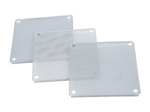 APEVIA FF-120SV 120mm Silver Fan Filter 3 in 1 pack