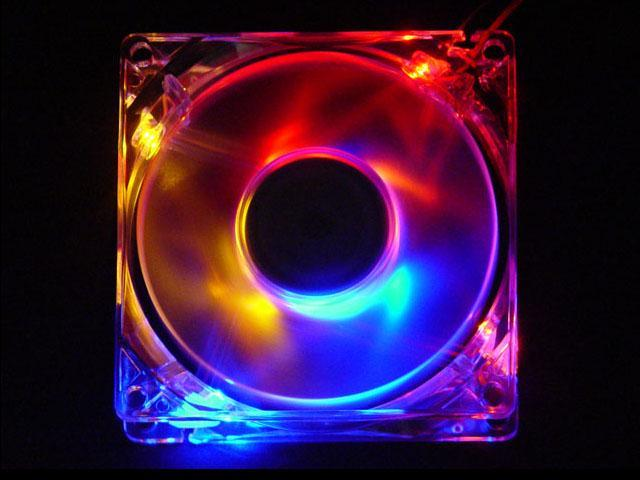 APEVIA CF4SL-4C 80mm Multi-Color LED Case Fan