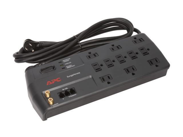 APC P11VT3 8 Feet 11 Outlets 3020 Joules Performance SurgeArrest 11 Outlets with tel2/splitter and coax jacks