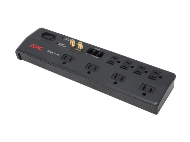 APC P8VT3 6 Feet 8 Outlets 2770 Joules Home Office SurgeArrest with Phone (Splitter) and Coax Protection