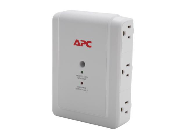 APC P6WT 4 ft 6 Outlets 1000 J SurgeArrest Essential Surge Suppressor