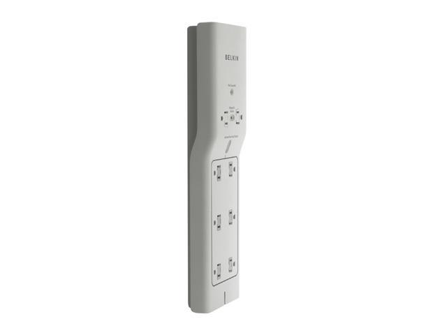 BELKIN BG108000-04 4 ft. 8 Outlets 1000 Joules White Conserve Energy Saving Surge Protector w/ Remote Switch