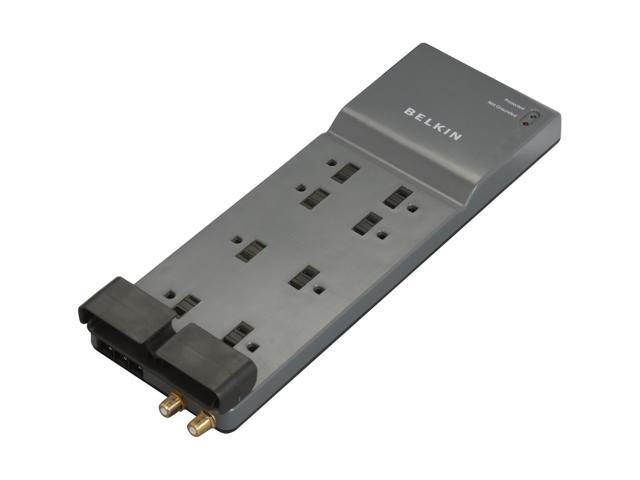 BELKIN BE108230-06 6 Feet 8 Outlets 3390 Joules Surge Suppressor with Coax Protection