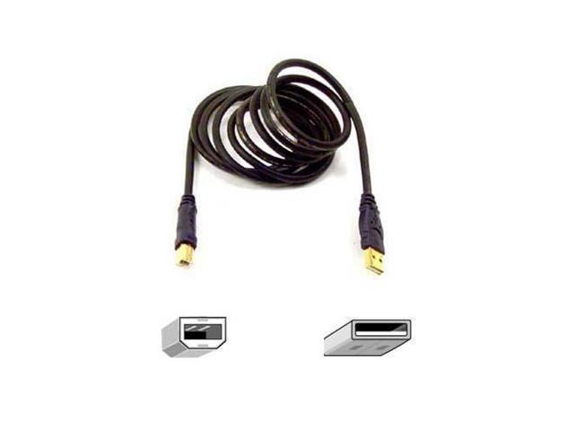 Belkin F3U133-16-GLD 16 ft. Black Gold Series USB2.0 Device Cable (AM/BM) Black Color