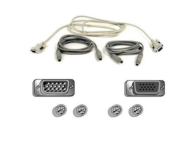 BELKIN 6 ft. Pro Series OmniView KVM PS/2 Cable Kit A3X982