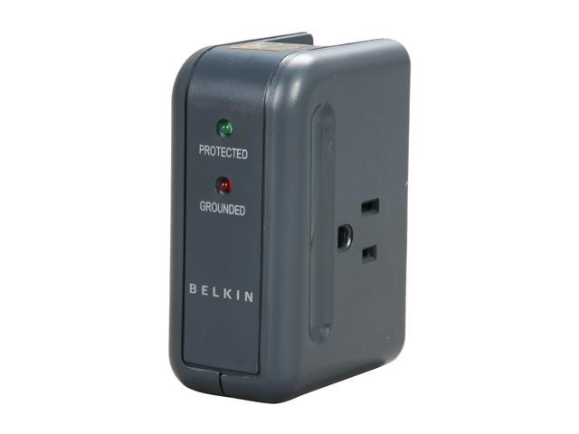 BELKIN F9H220-TVL-DL 2 Outlets 540 joule Travel Surge Protector with Hidden Swivel Plug