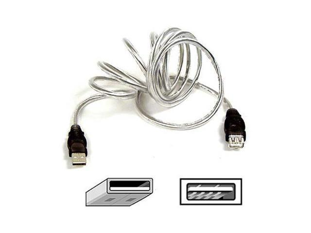 Belkin F3U134-10-CBL 10 ft. Clear ice USB 2.0 A/B Extension Cable