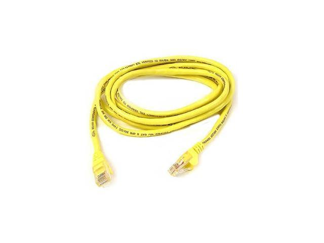 BELKIN A3L791B07-YLW-S 7 ft. Cat 5E Yellow Patch Cable CAT5e RJ-45M / RJ-45M
