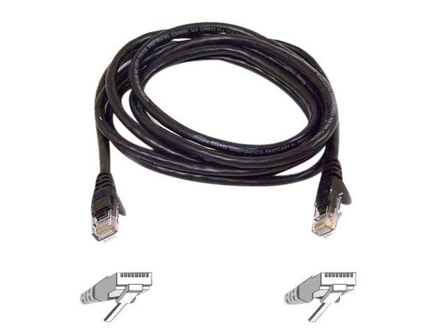 BELKIN A3L980B03-BLK-S 3 ft. Cat 6 Black RJ45M/RJ45M Snagless  Patch Cable