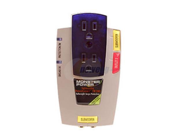 MONSTER MP SW 200 2 Outlets 1110 Joules Home Theatre Surge Suppressor