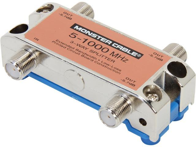 Monster Cable SS3RF MKII 3 Way RF Splitters For CATV Signals MKII