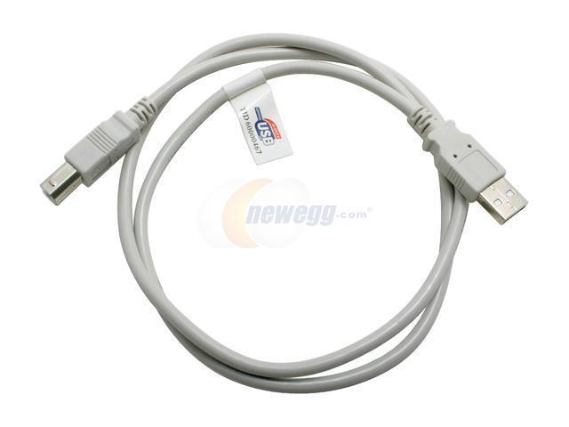 GENERIC 10U2-02203 3 ft. Beige  AM/BM USB2.0 Cable - OEM