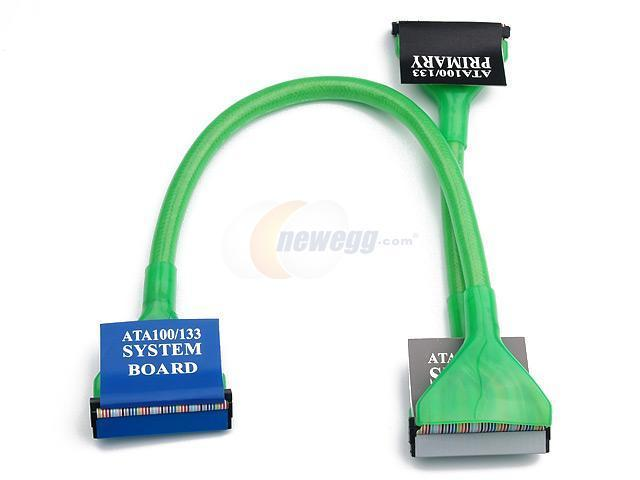 "Rosewill RCW-410 24"" /Ultra ATA Round Cable /UV Green"