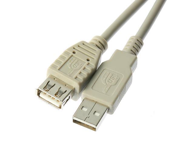 Rosewill RC-16-U-AMF-BG - 16-Foot USB 2.0 A Male to A Female Extension Cable - Beige