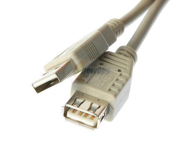 Rosewill RC-10-U-AMF-BG 10 ft. Beige USB2.0 Extension Cable AM/ AF