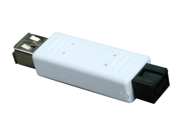 Rosewill RAD-RU-IEEE800-9P-6P - FireWire 400 6-Pin Female to FireWire 800 9-Pin Male Adapter for PCs & Macs