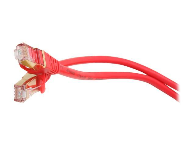 Rosewill RCNC-11046 - 25-Foot Cat 7 Shielded Networking Cable - Twisted Pair (S / STP), Red