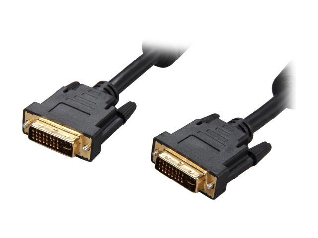 Rosewill Model RCDV-11004 - 15-Foot Black DVI-I Cable with Dual Ferrite Cores