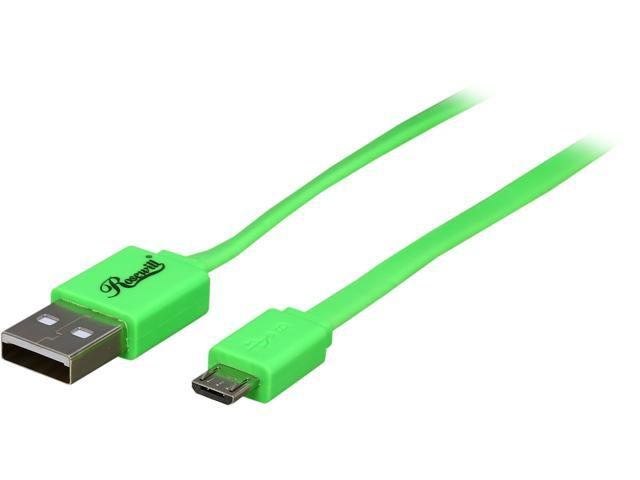 Rosewill RMU-1.5GN - 1.5-Foot USB 2.0 A Male to Micro B (5-Pin) Male Cable - Green