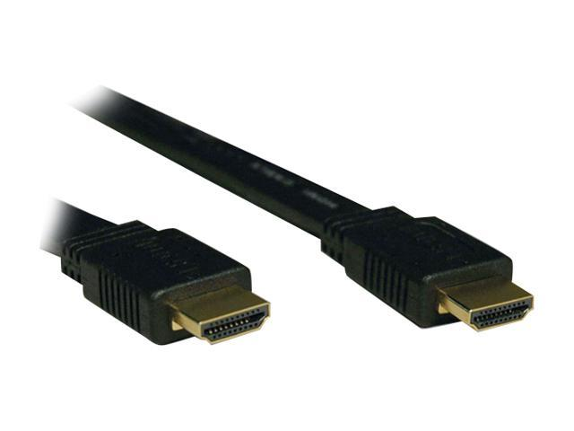 Tripp Lite P568-003-FL 3 ft. Black Flat HDMI Gold Digital Video Cable - HDMI-M / HDMI-M