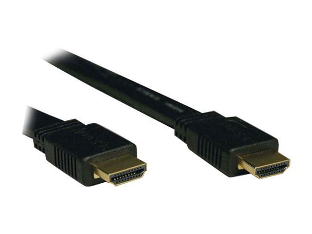Tripp Lite P568-006-FL 6 ft. Black Flat HDMI Gold Digital Video Cable - HDMI-M / HDMI-M