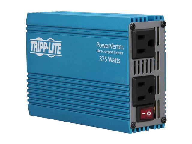 Tripp Lite 375 W Car Power Inverter with 2 Outlets, Auto Inverter, Ultra Compact (PV375)