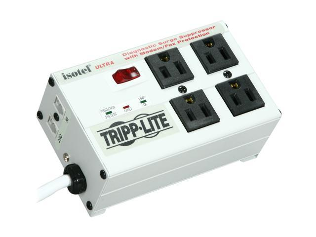 Tripp Lite ISOTEL 6ft. Cord 4 Outlets 2700 Joules Surge Suppressor