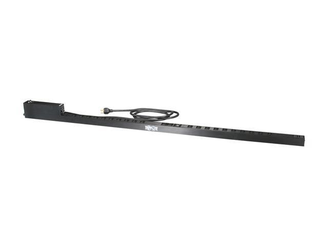Tripp Lite Monitored PDU, 30A, 24 Outlets (20 C13 & 4 C19), 208 / 240 V, L6-30P, 10 ft. Cord, 0U Vertical Rack-Mount Power, TAA (PDUMNV30HV)