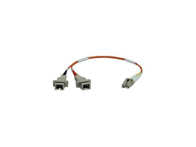 Tripp Lite N458-001-62 1 ft. 0.3M (1-ft.) Duplex MMF 62.5/125 Adapter (LC-Male/SC-Female) M-F