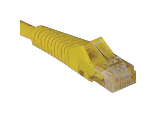 TRIPP LITE N001-025-YW 25 ft. Cat 5E Yellow 350MHz Snagless Molded Cable