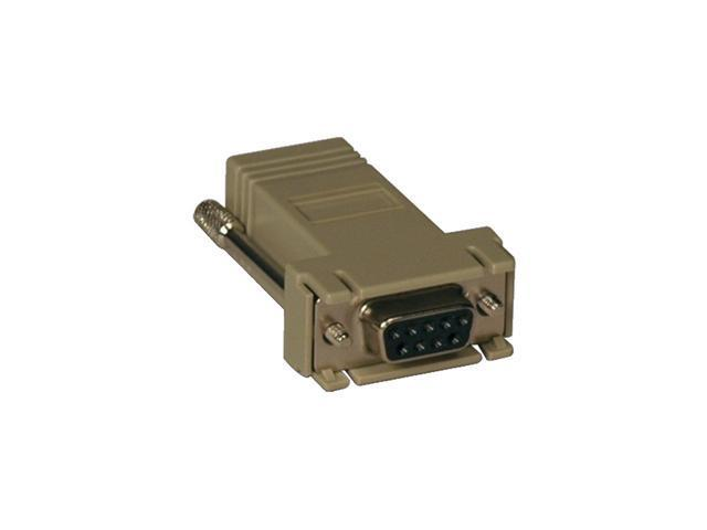 Tripp Lite B090-A9F-X Crossover Adapter RJ-45 DB9 (F) for Console Servers