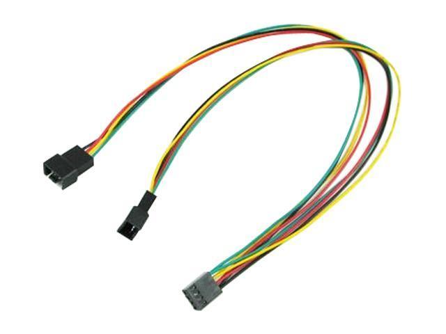 """OKGEAR FC444PWM-12 12"""" 4pin PWM fan Y cable"""
