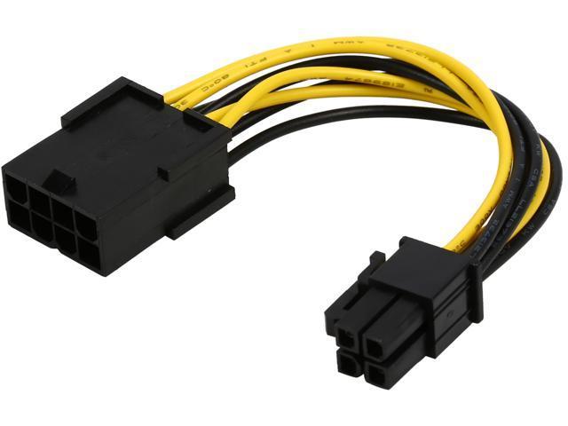 "OKGEAR FC84-4 4"" ATX 8Pin Male to ATX 4Pin Female Cable M-F"