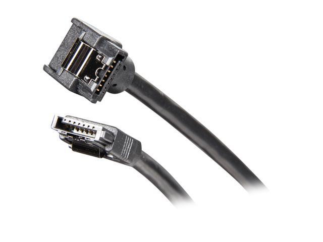 OKGEAR OK4380 70cm SATA 6Gbps round cable, straight to right angle, black color
