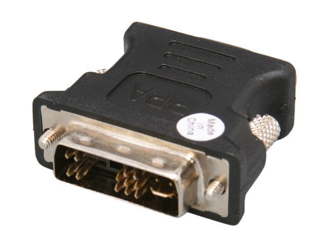 PPA 7338D DVI 17 Pin Male to HD15 VGA Female Connector
