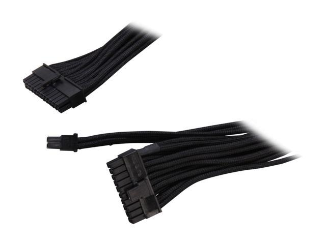"""Silverstone PP06B-MB55 21.65"""" (550mm) Sleeved Motherboard 24pin Cable"""