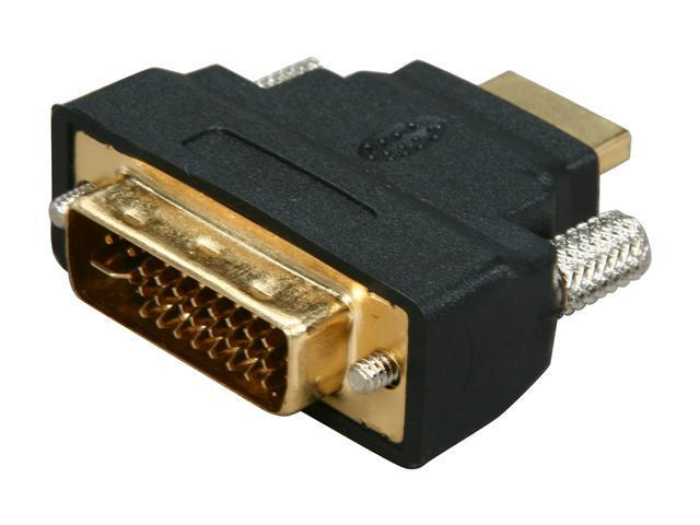 SYBA CL-ADA31010 HDMI Male (19-pin) to DVD-D Male (24+1 pin) Adapter, RoHS - OEM