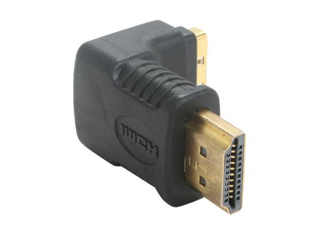 SYBA CL-ADA31012 HDMI Male (19-pin) to HDMI Female (19-pin) Adapter, L-Shaped Angle, RoHS - OEM